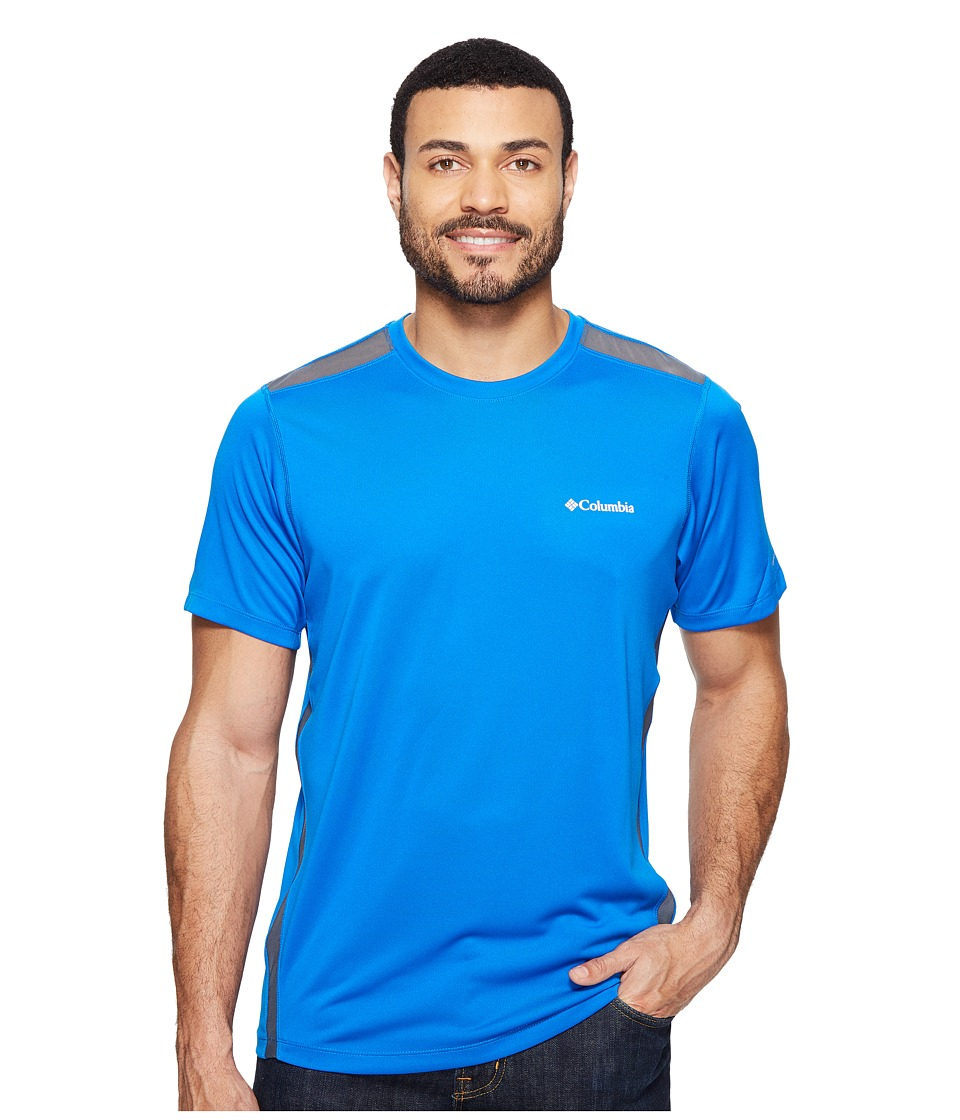 Columbia Ridge Dash Short Sleeve Shirt (Super Blue/Graphite) Men