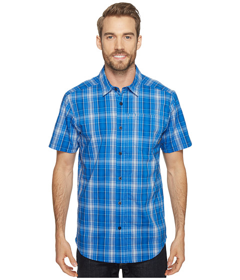 Columbia Global Adventure™ IV YD Short Sleeve Shirt - Super Blue Plaid