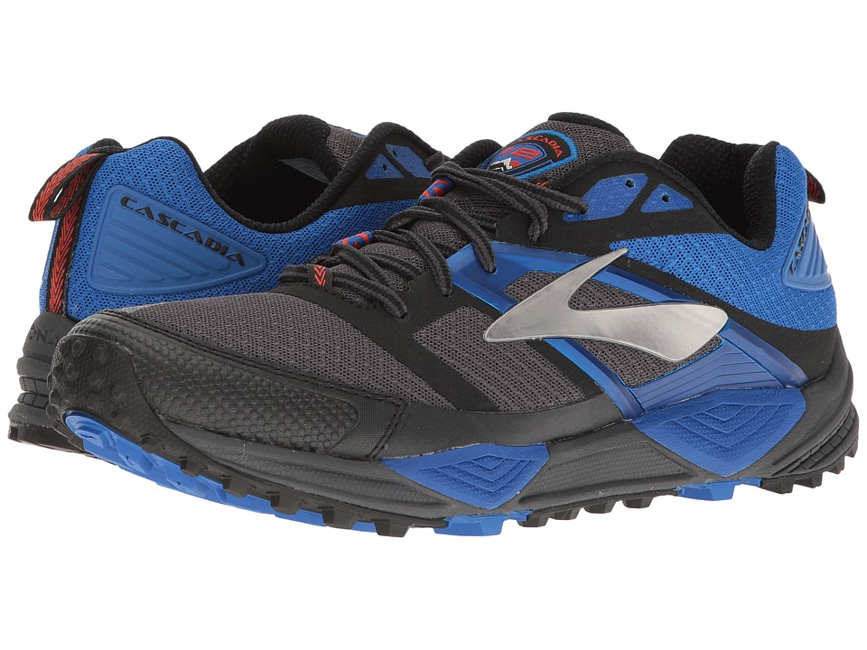 BROOKS Cascadia 12 (Anthracite/Electric Blue/Black) Men's...