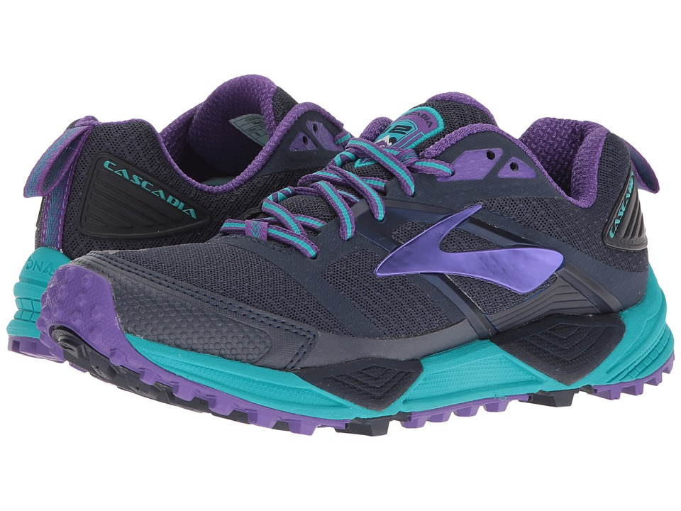 BROOKS Cascadia 12 (Peacoat/Passion Flower/Bluebird) Wome...