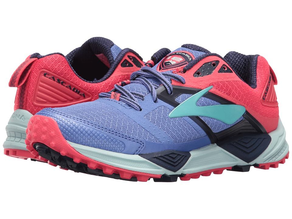 BROOKS Cascadia 12 (Baja Blue/Paradise Pink/Clearwater) Women's Running Shoes