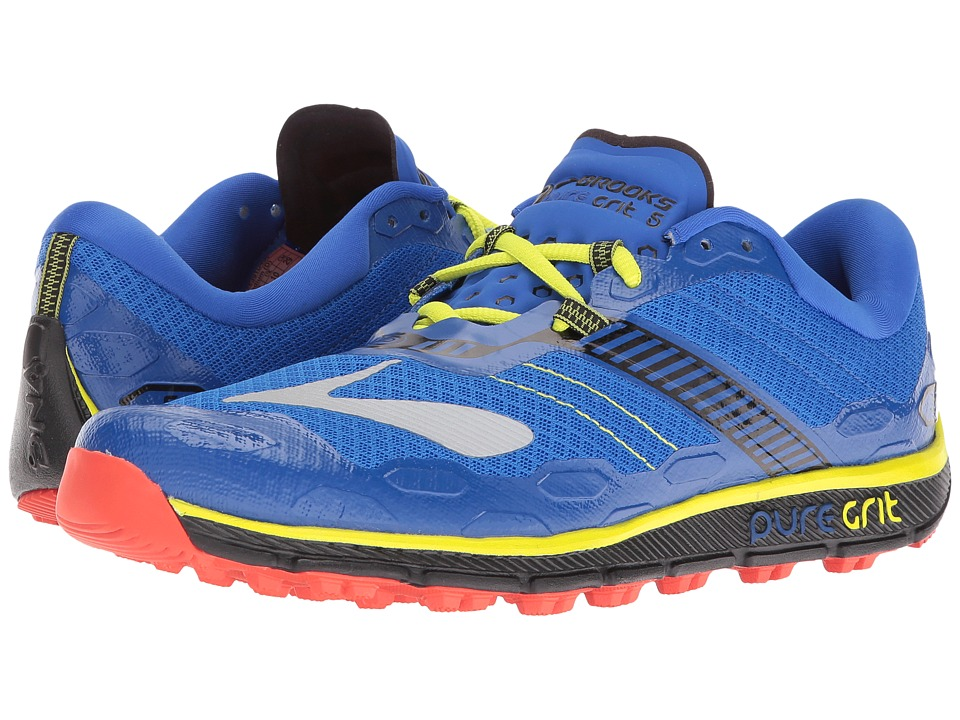 Brooks PureGrit 5 (Electric Brooks Blue/Black/Lime Punch) Men