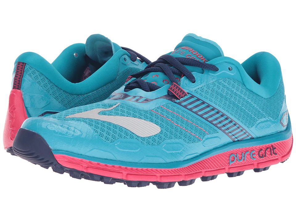 Brooks PureGrit 5 (Peacock Blue/Virtual Pink/Patriot Blue) Women