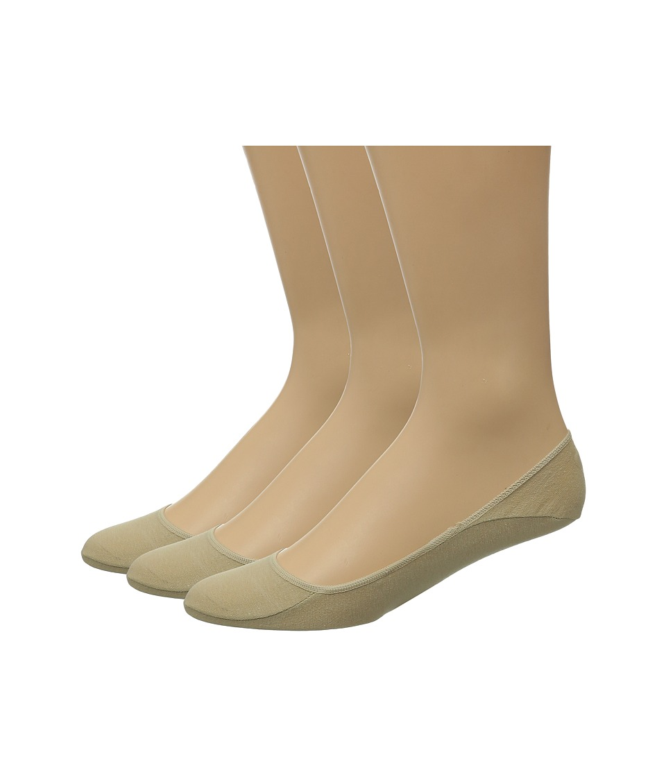 Polo Ralph Lauren - 3-Pack No Show Foot Liner with Heat Transfer Polo (Khaki) Mens No Show Socks Shoes