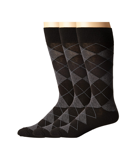 Polo Ralph Lauren 3-Pack Classic Argyle Cotton Blend with Polo Logo Knit In On Sole - Black