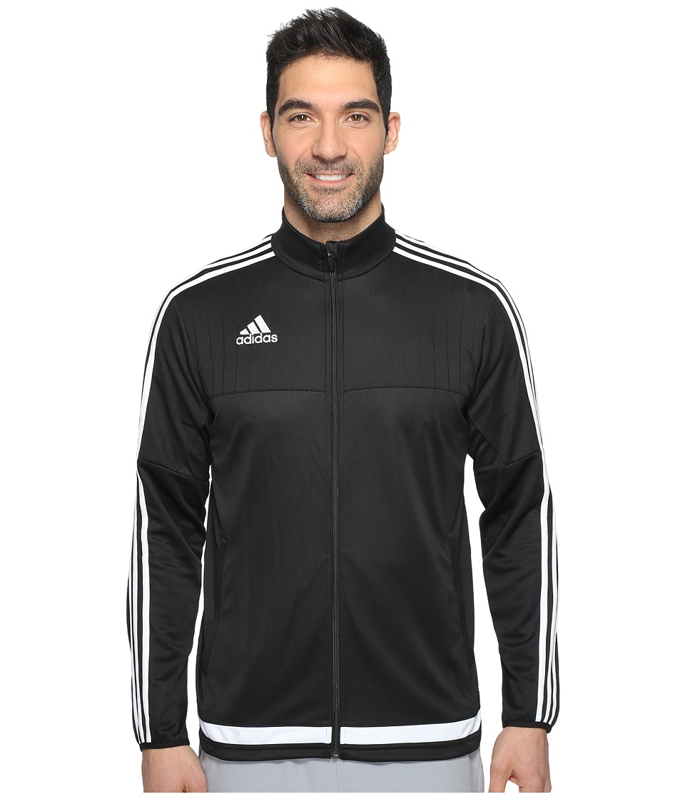 adidas Tiro 15 Training Jacket (Black/White/Black) Men