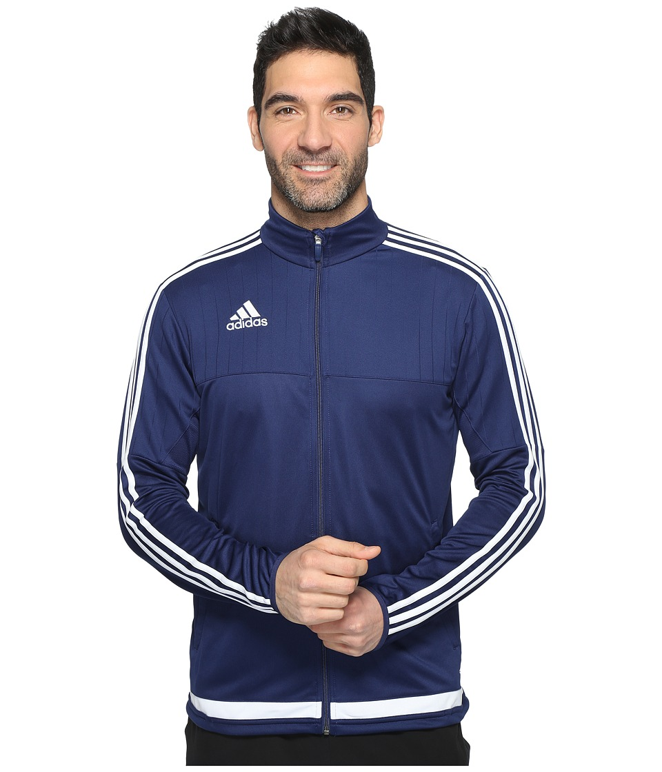 adidas Tiro 15 Training Jacket (Dark Blue/White/Dark Blue) Men