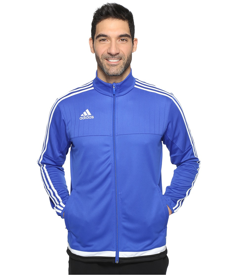 adidas Tiro 15 Training Jacket (Bold Blue/White/Black) Men