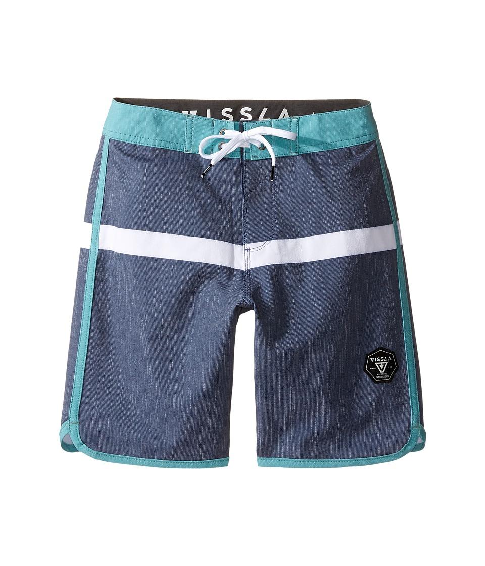 VISSLA Kids Dredges 4-Way Stretch Boardshorts 17 (Big Kids) (Dark Navy) Boy