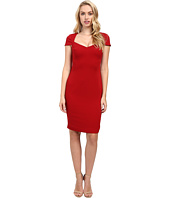 Badgley Mischka - Cap Sleeve Stretch Crepe Short Dress