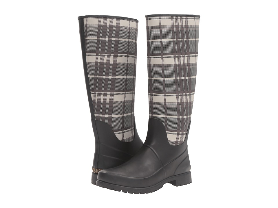 LAUREN Ralph Lauren Bethania (Black/Grey Solid Matter Burnished/Plaid) Women