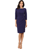 Badgley Mischka - Faux Wrap Crepe Dress