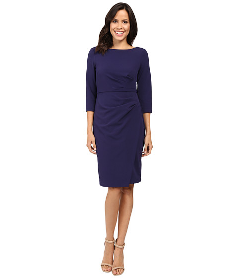 Badgley Mischka Faux Wrap Crepe Dress !