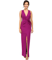 Badgley Mischka - Deep V Twist Front Gown