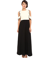 JILL JILL STUART - Color Block Popover Gown with Cold Shoulder