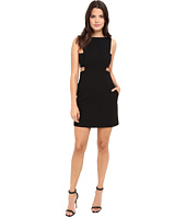 JILL JILL STUART - Short Crepe Dress with Cut Out Details