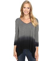 Karen Kane - Ruched Sleeve Ombre Dye Tee
