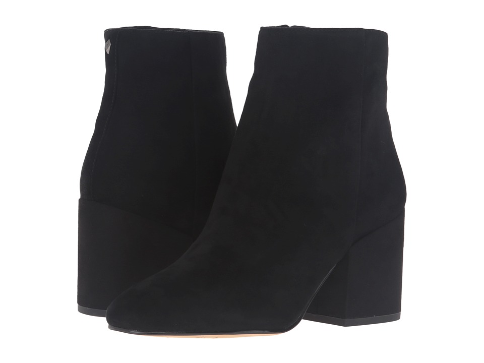 Vintage Style Boots, Retro Boots, Granny Boots, Fur Top Boots Sam Edelman - Taye Black Kid Suede Leather 1 Womens Shoes $159.95 AT vintagedancer.com