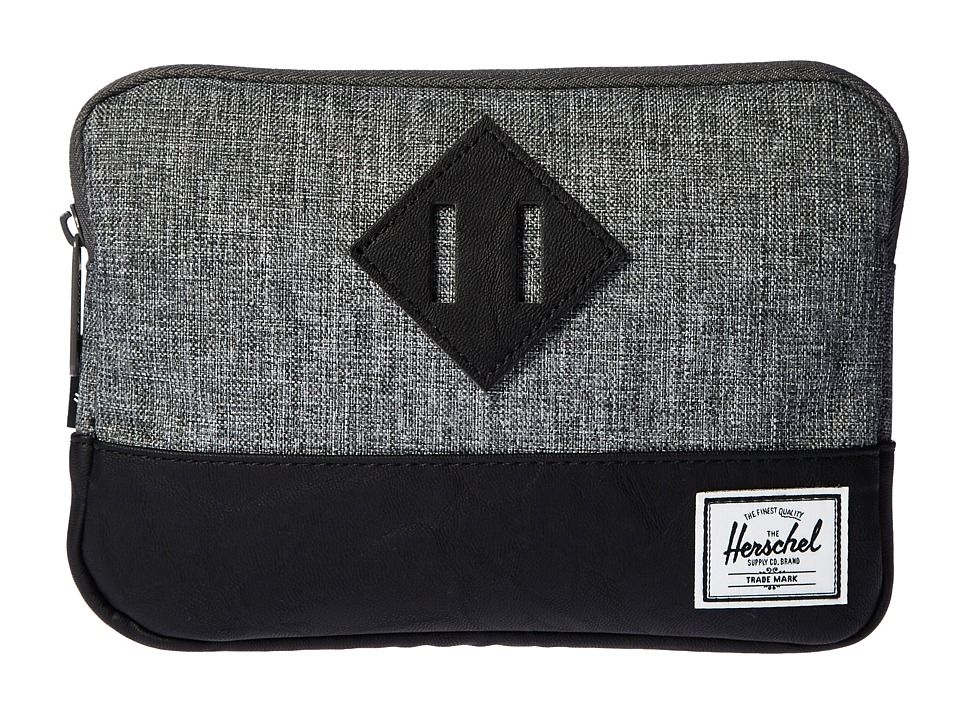 Herschel Supply Co. Heritage Sleeve For iPad Mini (Raven Crosshatch/Black Synthetic Leather) Computer Bags