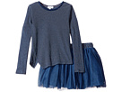 Splendid Littles - Indigo Tutu Dress Stripe Print (Toddler)