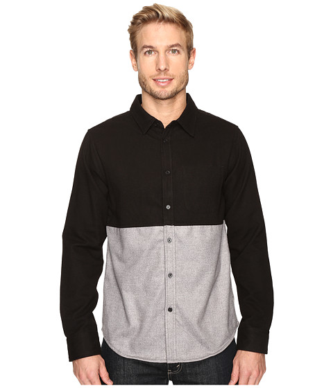 United By Blue Banff Color Block Wool Shirt - Black/Grey
