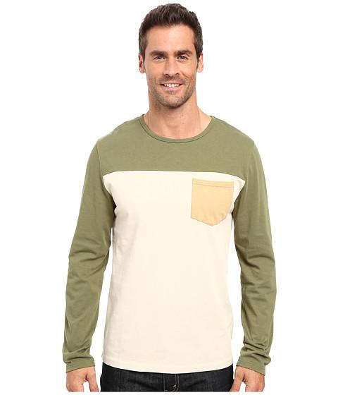 United By Blue Standard Long Sleeve Color Block Pocket Shirt - Olive