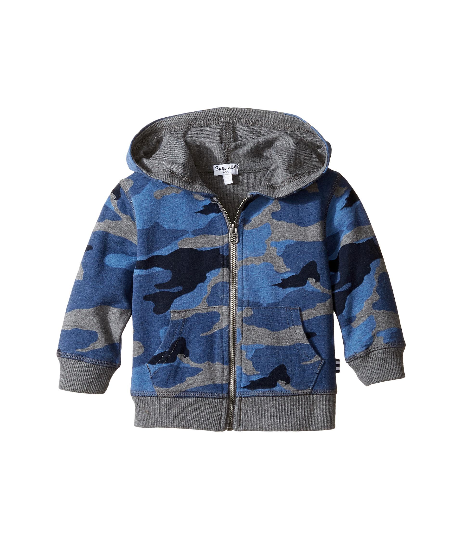 Splendid littles camo printed hoodie infant multi for Splendid infant