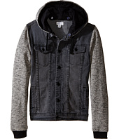 Pumpkin Patch Kids - Black Denim Hooded Jacket (Big Kids)