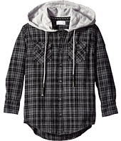 Pumpkin Patch Kids - Oversize Hooded Check Shirt (Little Kids/Big Kids)
