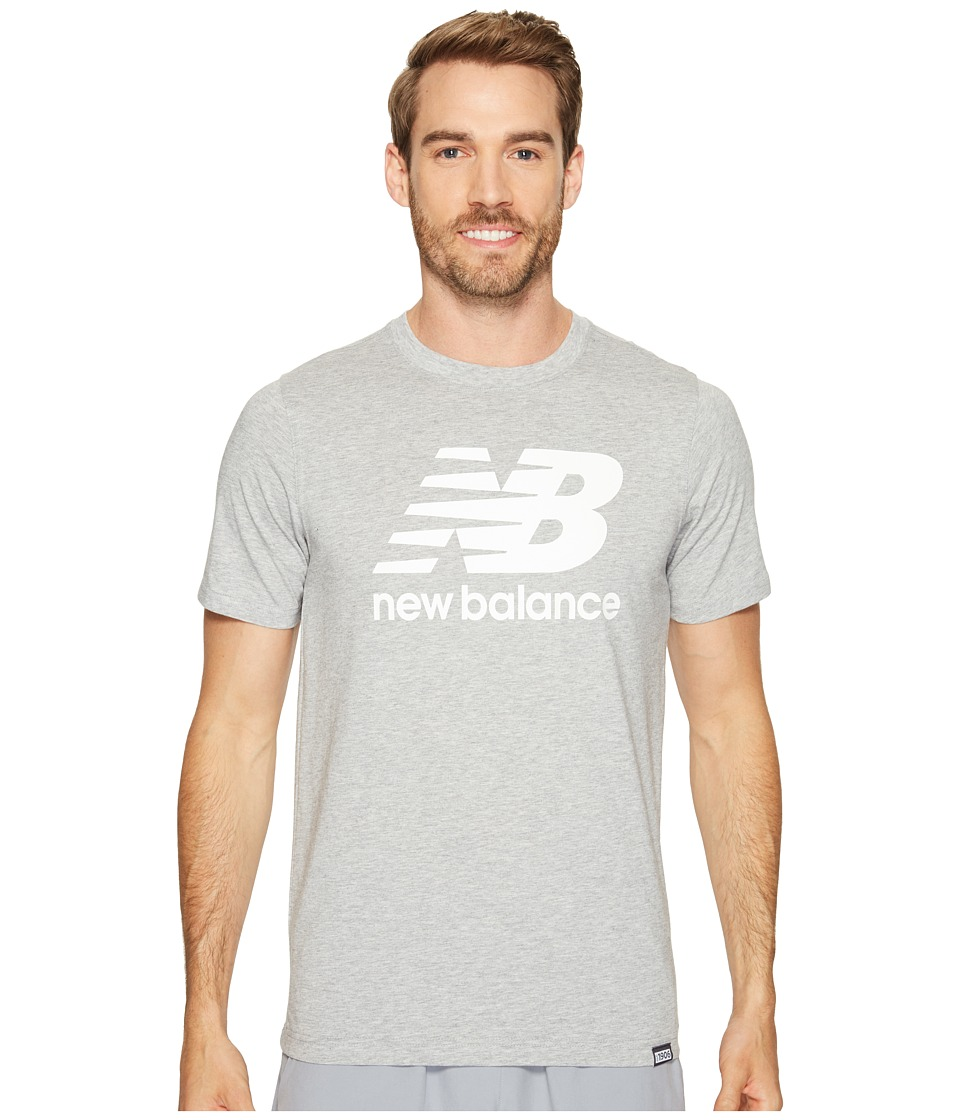 New Balance Classic Short Sleeve Logo Tee (Athletic Grey) Men