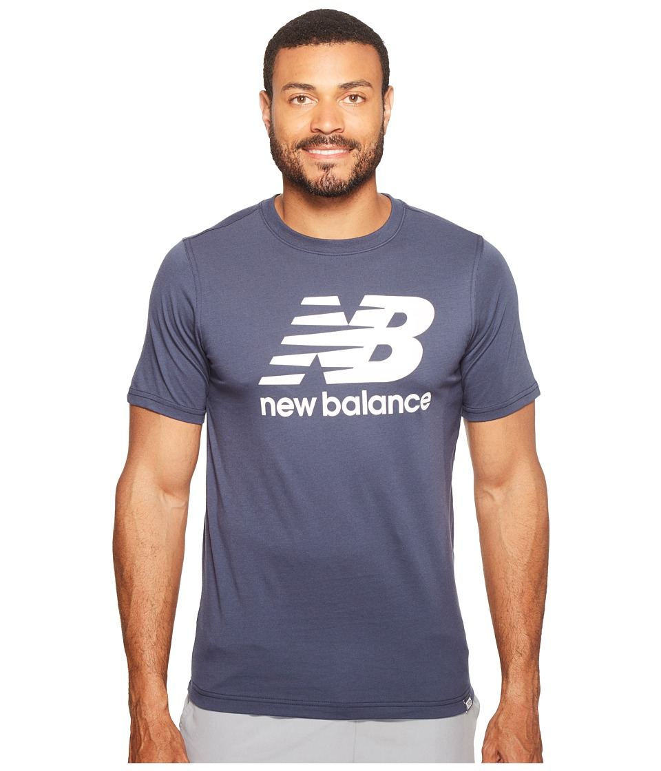 New Balance Classic Short Sleeve Logo Tee (Navy) Men
