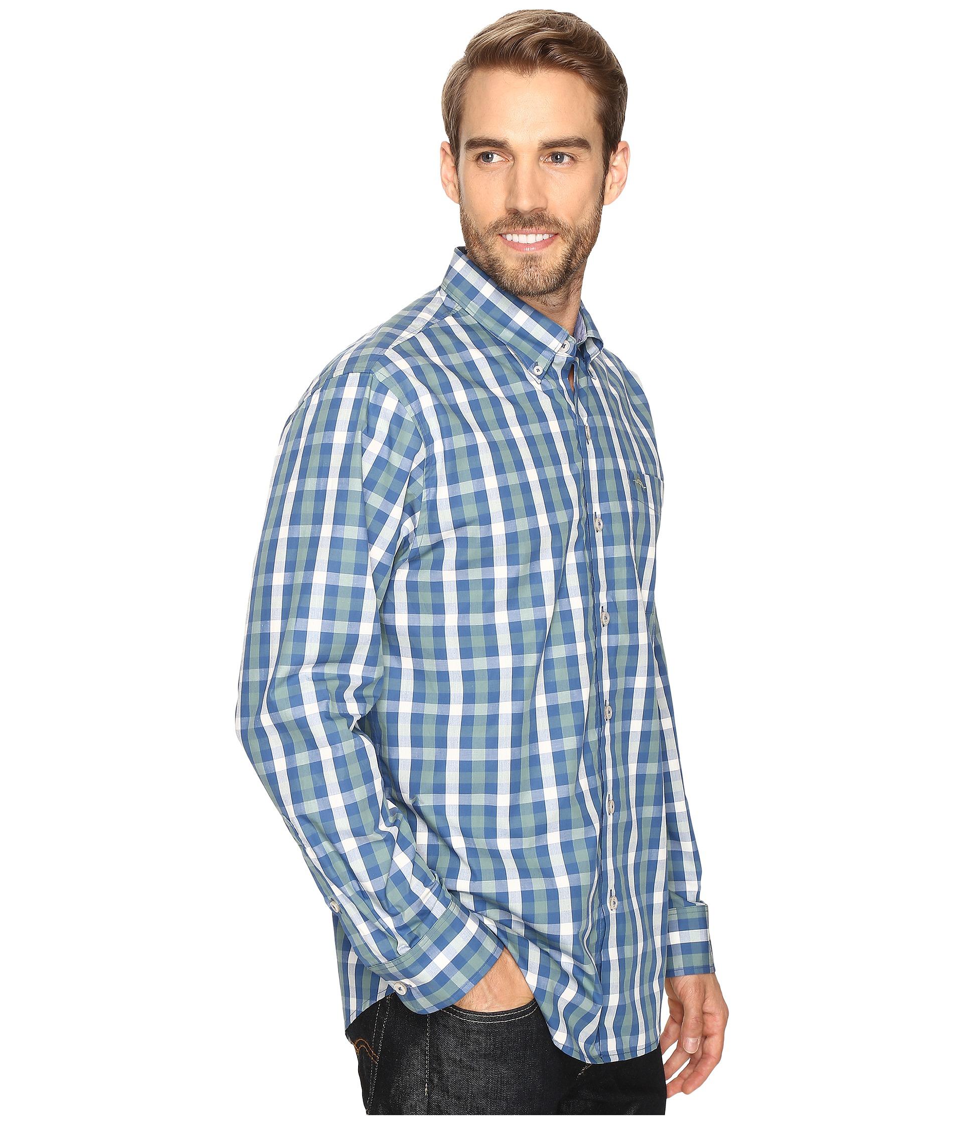 Tommy bahama tudo check long sleeve woven shirt zappos for Tommy bahama long sleeve dress shirts