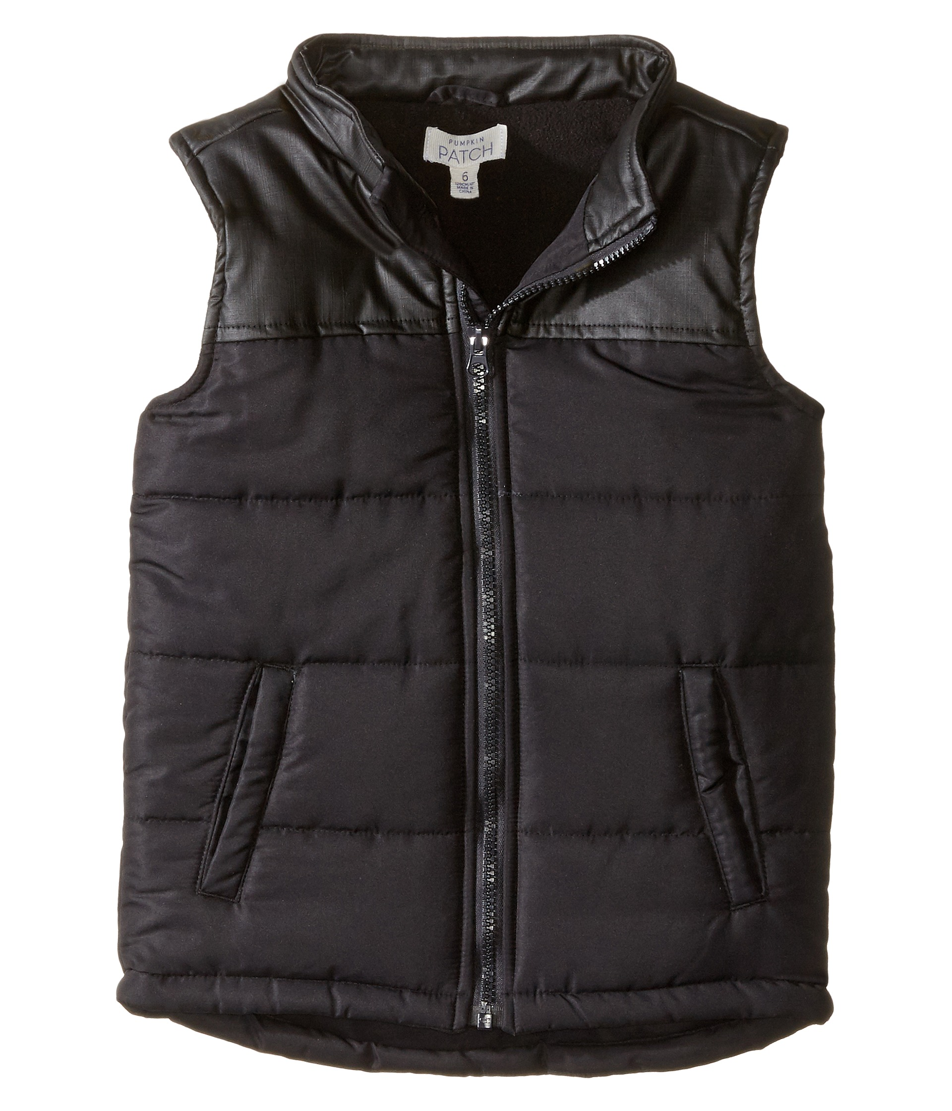 how to wear a black puffer vest