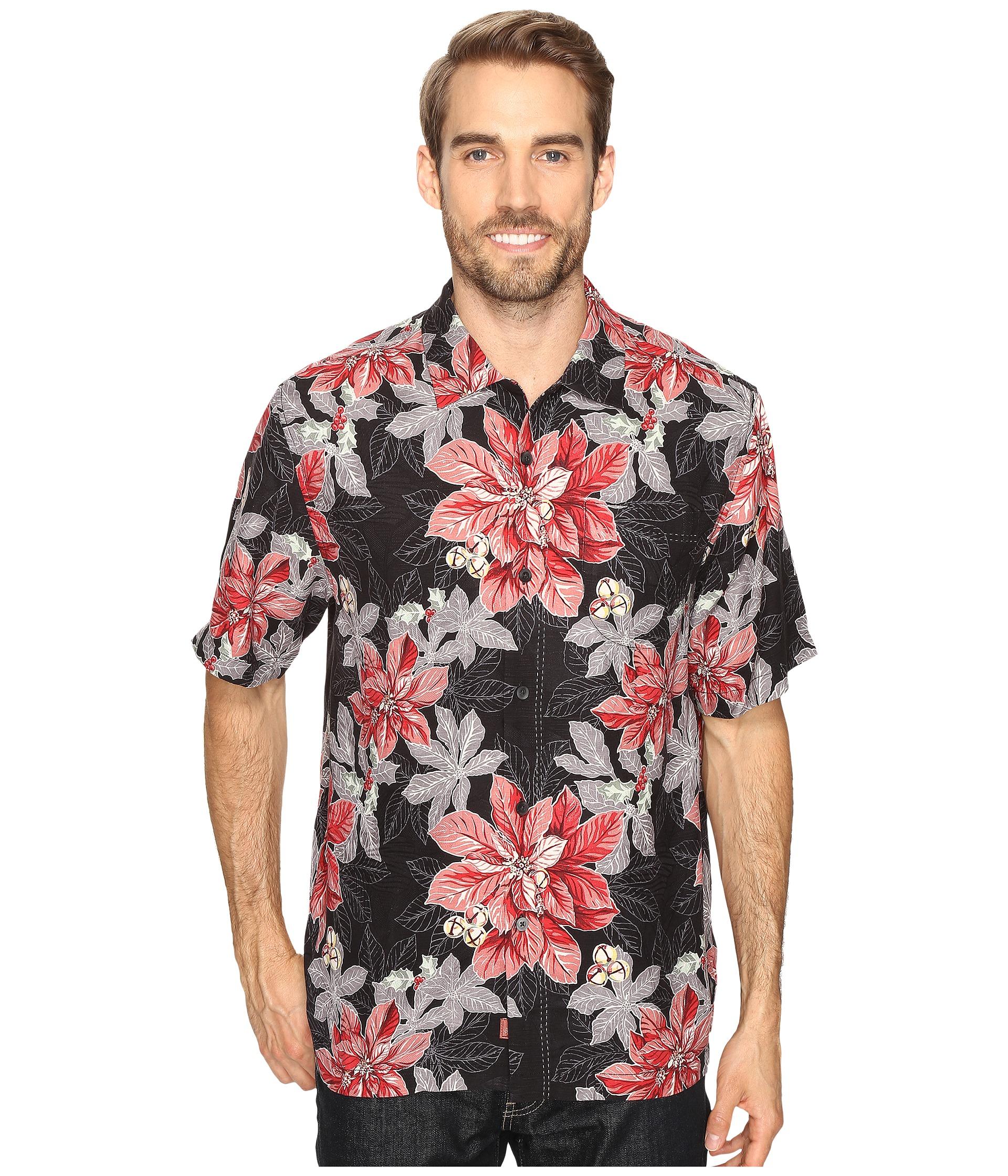 Tommy bahama festive flora short sleeve woven shirt jet for Where to buy tommy bahama shirts