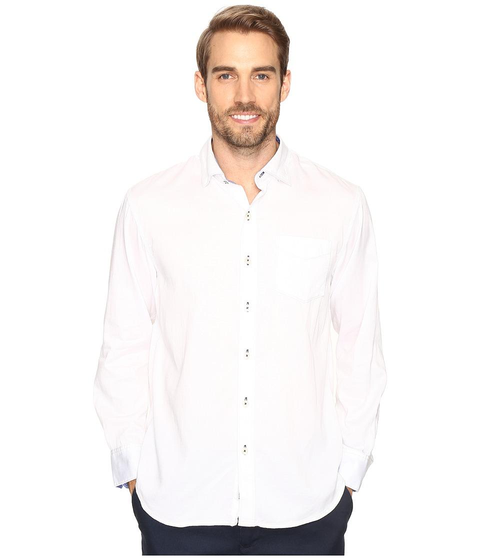 Tommy Bahama - Still Twillin Long Sleeve (White) Men's Clothing
