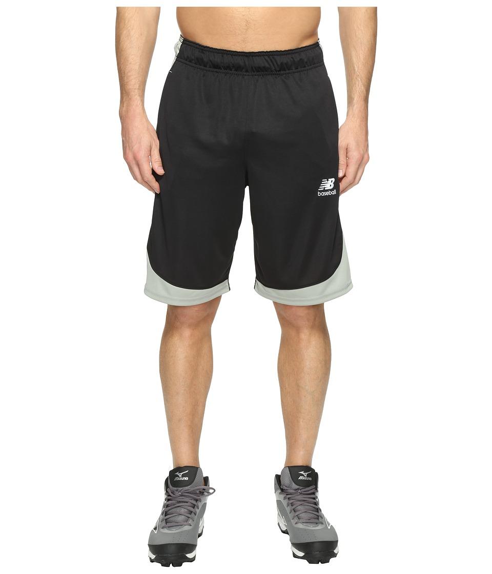 New Balance Baseball Training Shorts (Team Black) Men