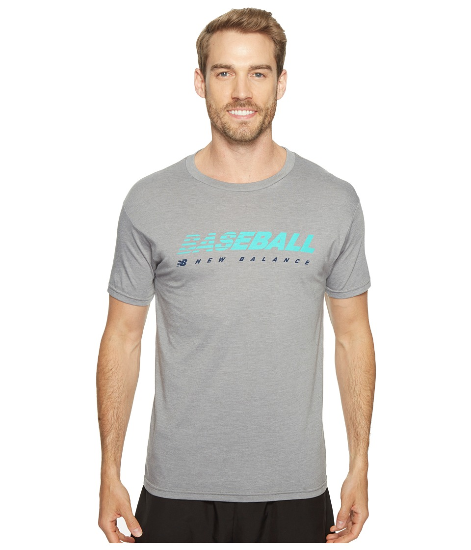 New Balance Baseball Speed Tee (Athletic Grey) Men