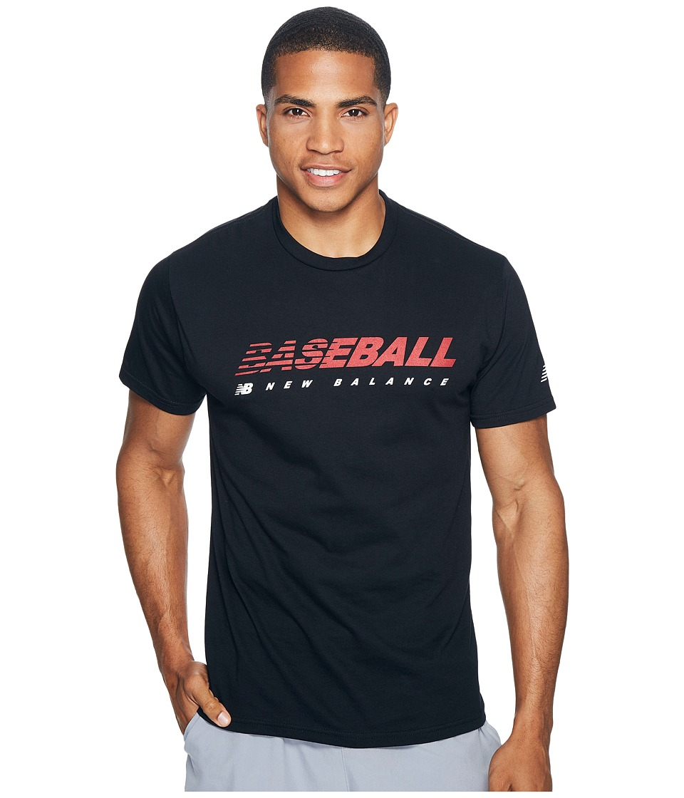 New Balance Baseball Speed Tee (Team Black) Men