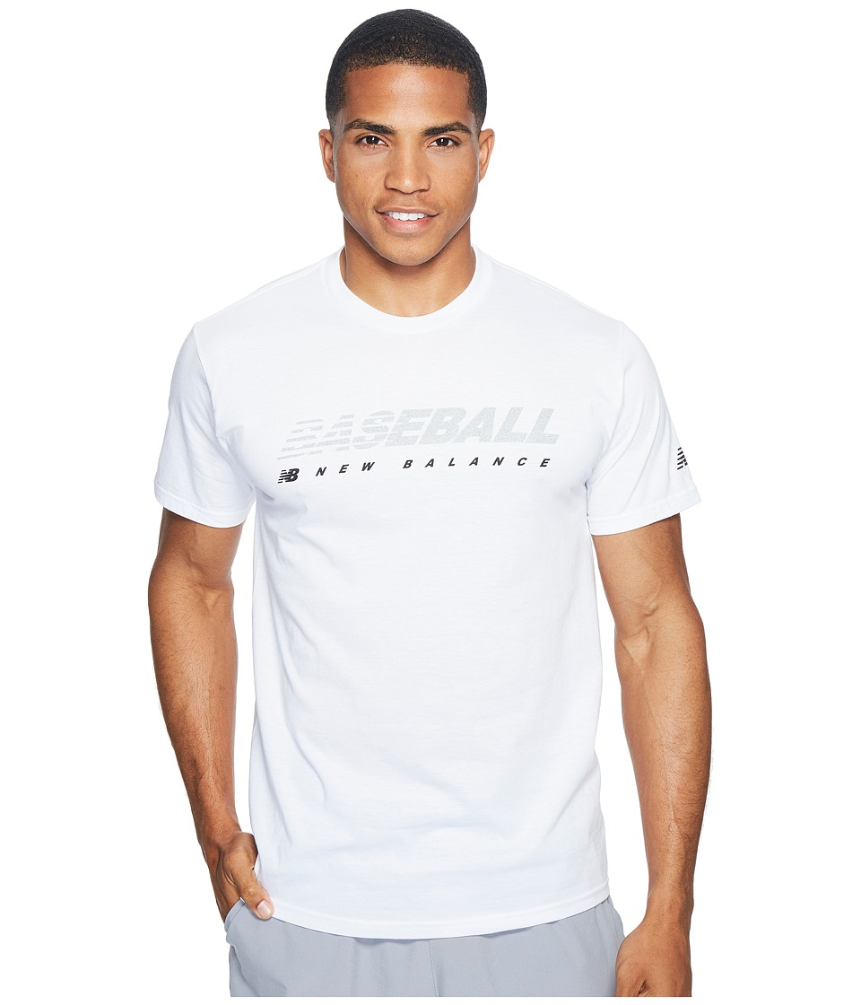New Balance Baseball Speed Tee (White) Men