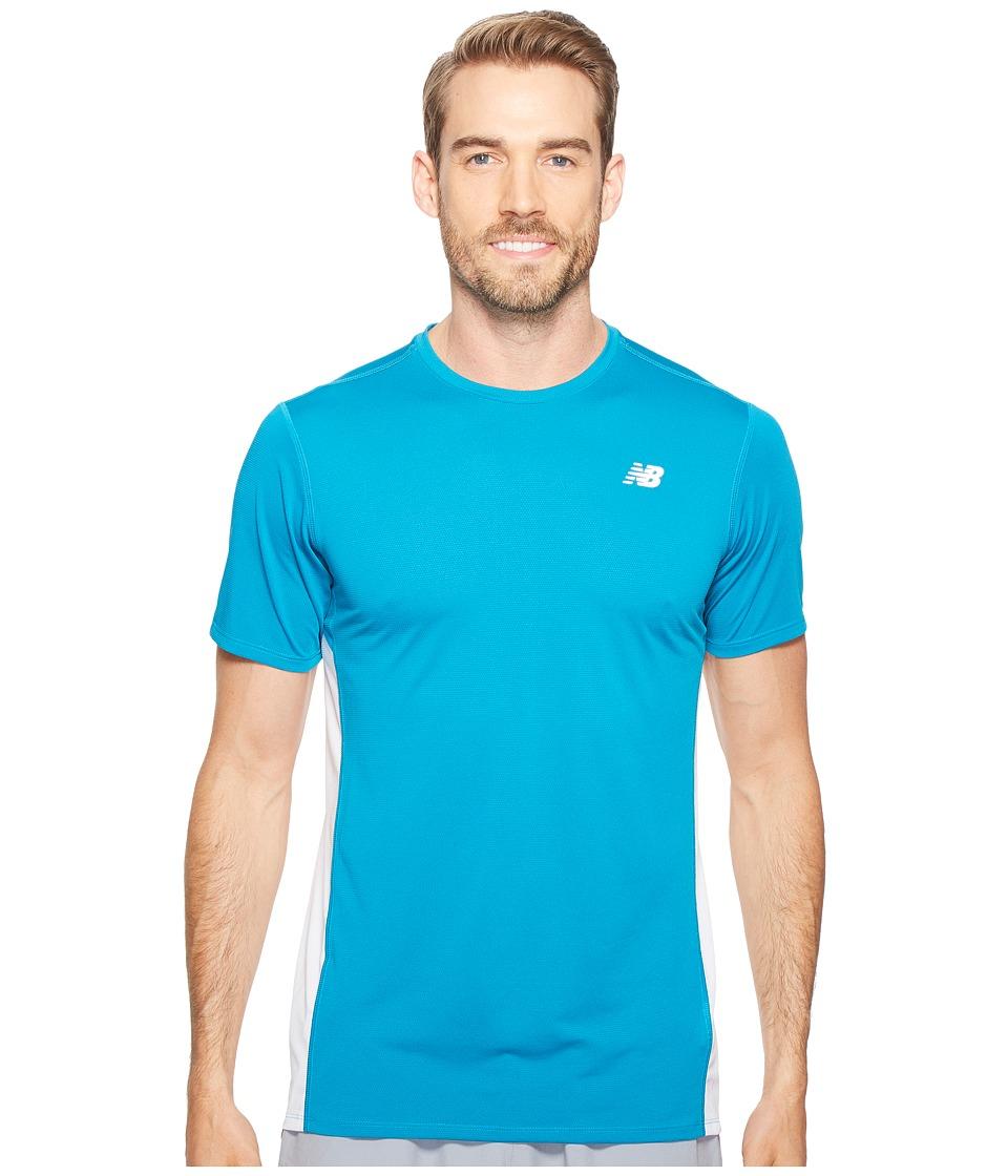 New Balance Accelerate Short Sleeve (Deep Ozone Blue/White) Men