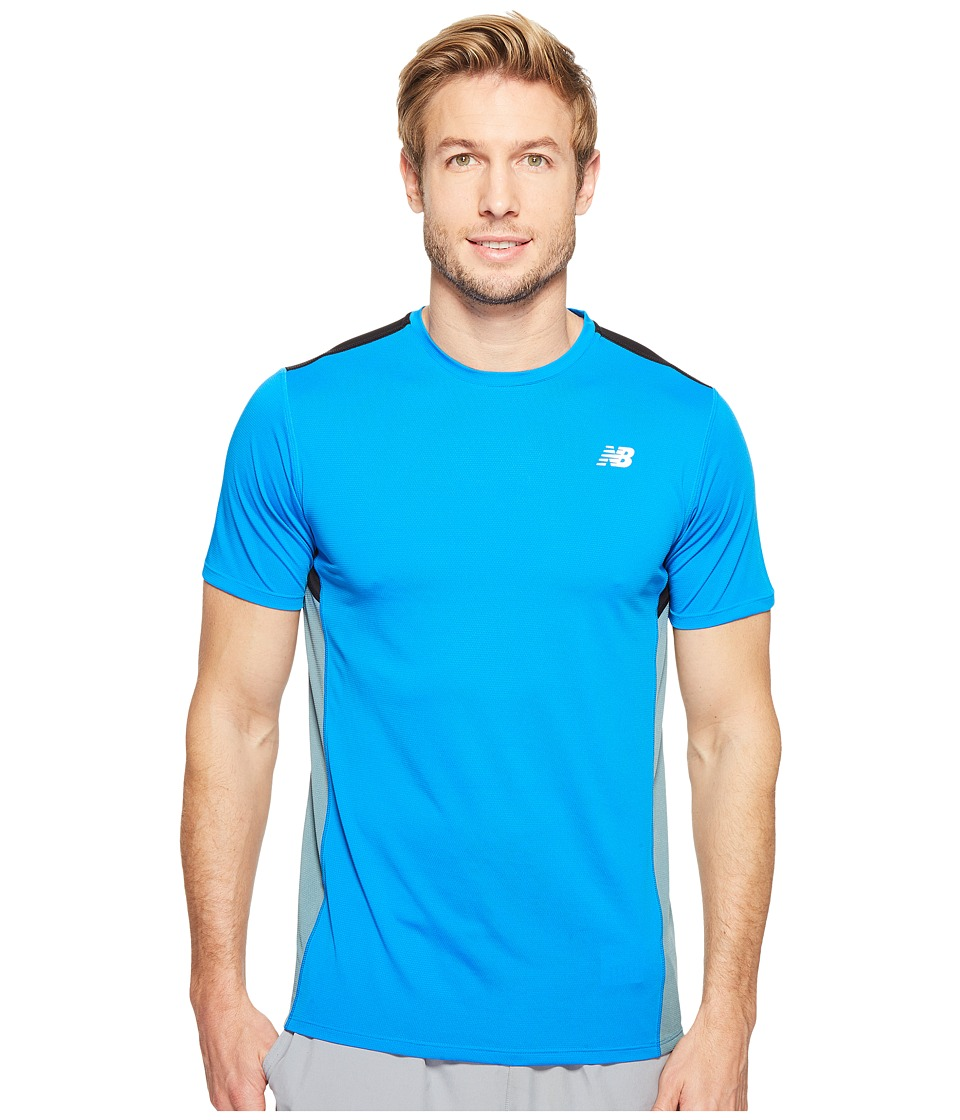New Balance Accelerate Short Sleeve (Electric Blue/Typhoon/Black) Men