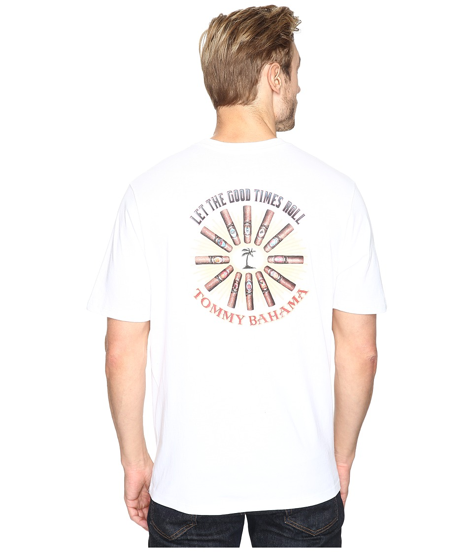 Tommy Bahama Let The Good Times Roll Tee (White) Men