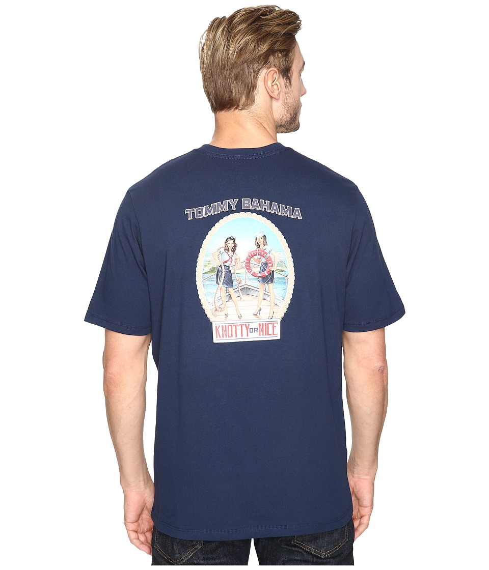 Tommy Bahama Knotty Or Nice Tee (Navy) Men