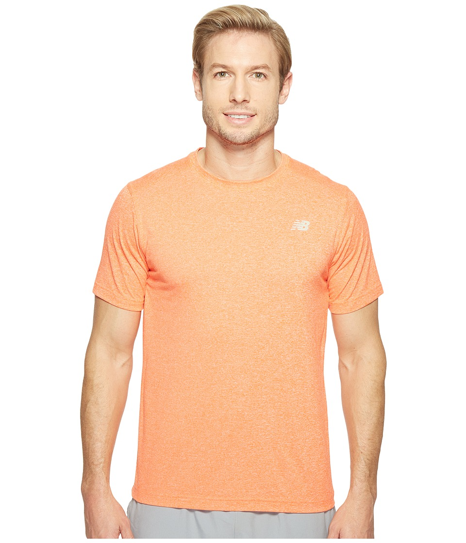 New Balance Short Sleeve Heather Tech Tee (Alpha Orange Heather) Men
