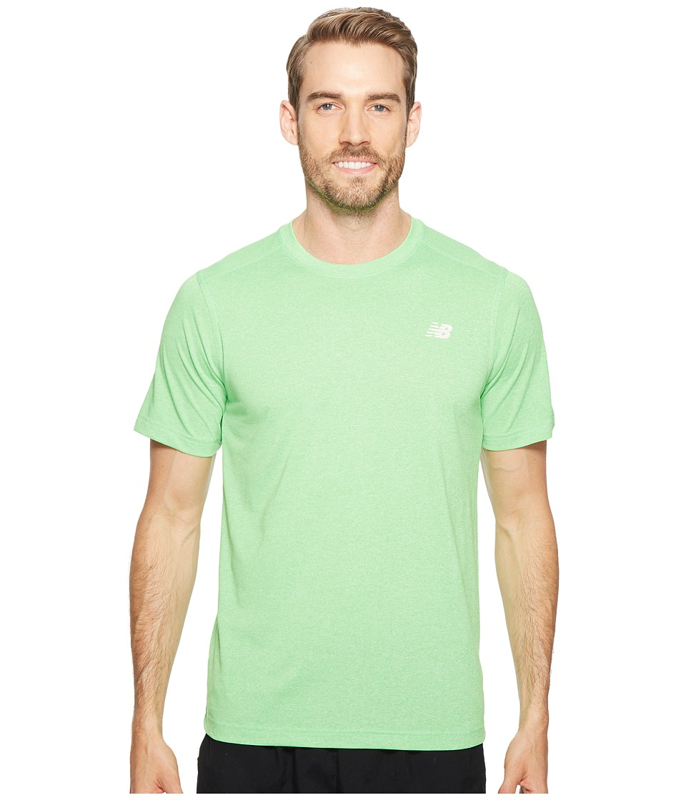 New Balance Short Sleeve Heather Tech Tee (Vivid Cactus Heather) Men