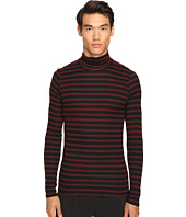 ATM Anthony Thomas Melillo - Striped Long Sleeve Rib Turtleneck Sweater