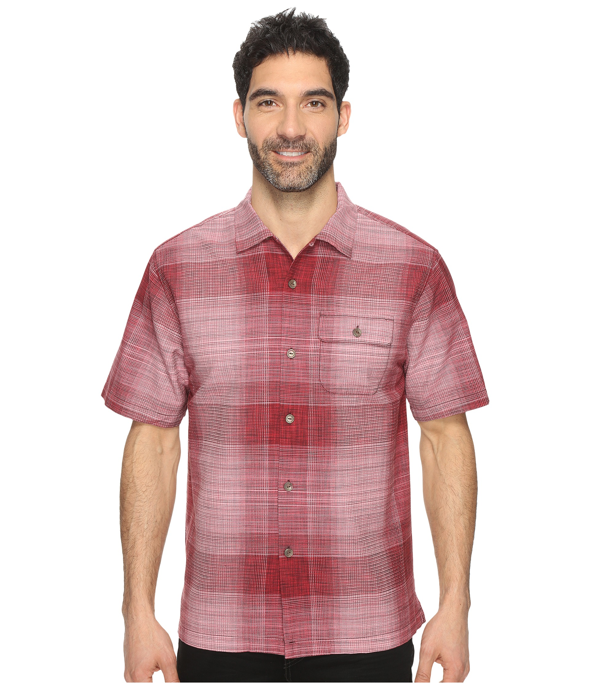 Tommy Bahama Orinoco Ombre Short Sleeve Woven Shirt At