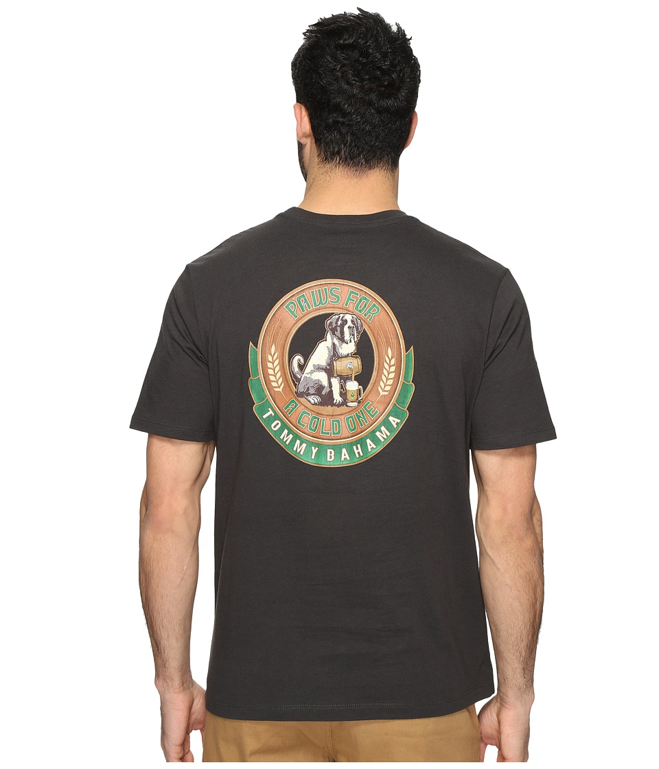 Tommy Bahama Paws for a Cold One Tee (Coal) Men