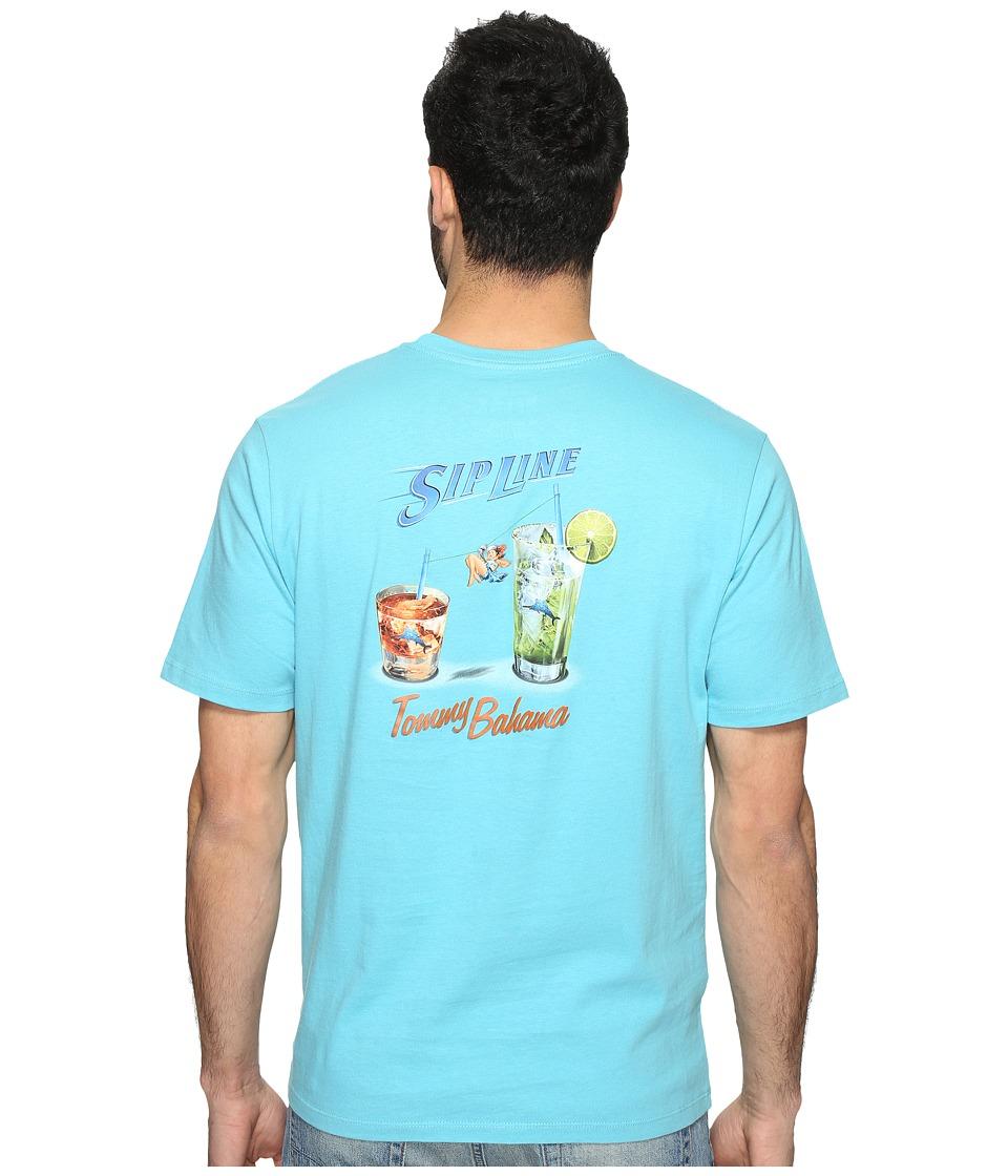 Tommy Bahama Sip Line Tee (Maui Blue) Men