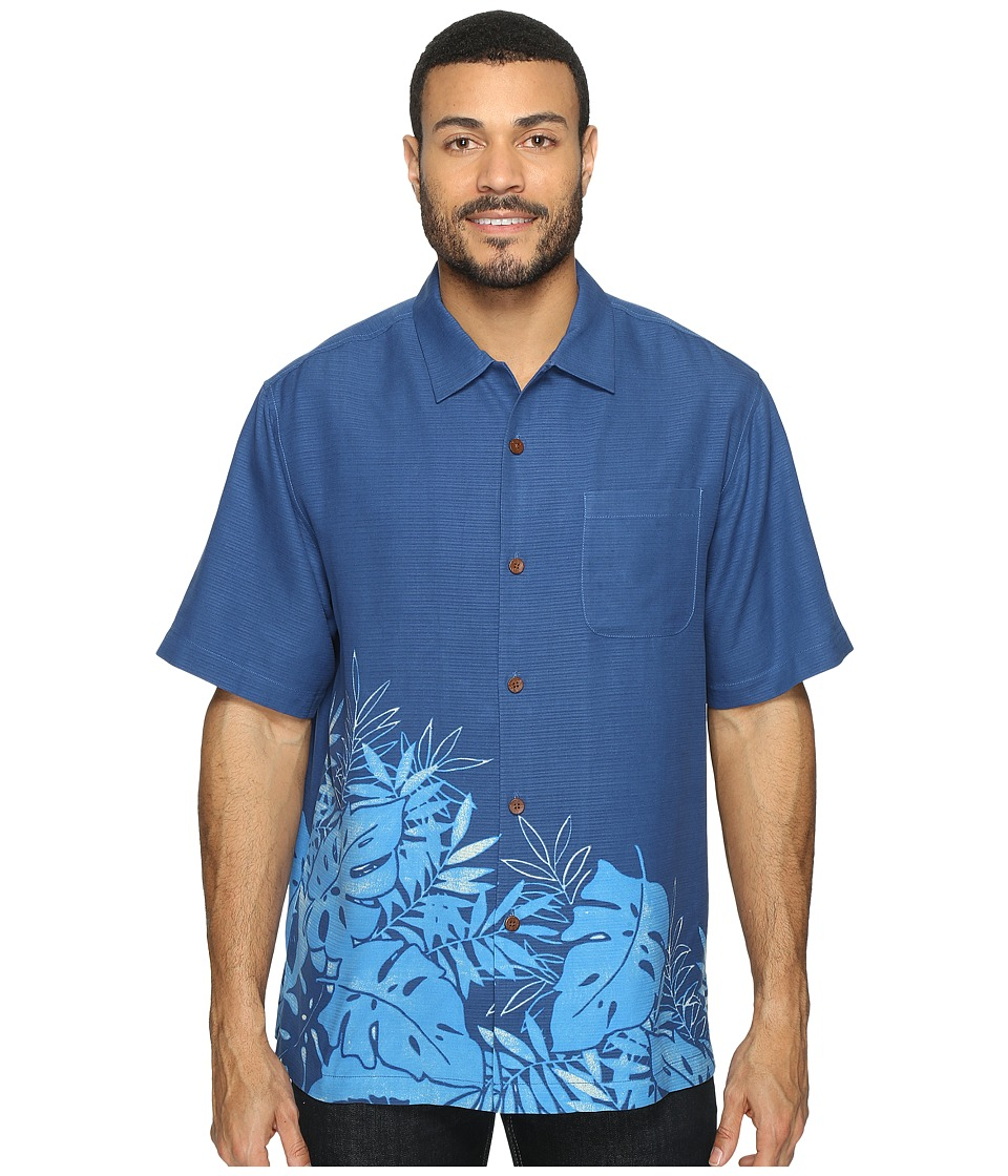 Tommy Bahama - Forta Lazea Fronds Short Sleeve Woven Shirt (Cobalt Craze) Mens Short Sleeve Button Up